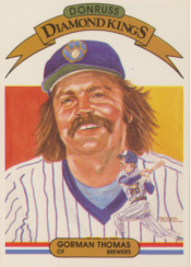 1982 Donruss Diamond King Gorman Thomas